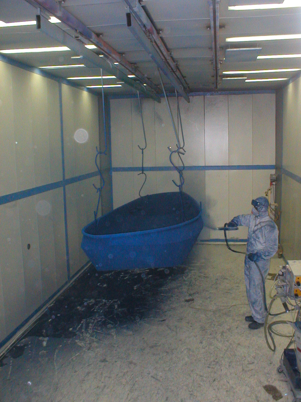 Nieuwe coating roeiboot