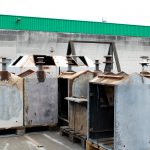 Ontlakte vuilnisbakken van De Roteb (Rotterdamse reiniging)